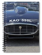 E Type Jaguar V12 Spiral Notebook