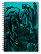 E Vincent Aquamarine Spiral Notebook