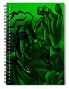 E Vincent Green Spiral Notebook