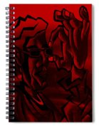 E Vincent Red Spiral Notebook
