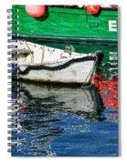 E17 Reflections - Lyme Regis Harbour Spiral Notebook
