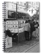 E85th. In Black And White Spiral Notebook