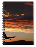 Eagle At Sunset Spiral Notebook