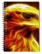 Eagle Glowing Fractal Spiral Notebook