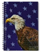 Eagle In The Starz Spiral Notebook