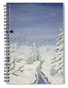 Eagle On Winter Lanscape Spiral Notebook