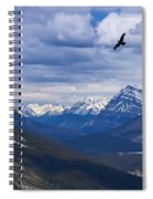 Eagle Over Peyto Lake Spiral Notebook