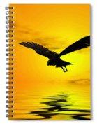 Eagle Sunset Spiral Notebook