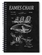Eames Chair Patent 4 Spiral Notebook
