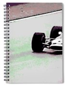 Early 60's Fun In A Formula 1 Race Spiral Notebook