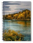 Early Autumn Along The Androscoggin River Spiral Notebook
