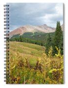 Early Autumn In The San Juans -  Mount Wilson And Wilson Peak Spiral Notebook