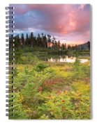 Early Autumn Meadow Sunset At Mt Baker Spiral Notebook
