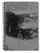 Early Blizzard At The Old Homestead Spiral Notebook