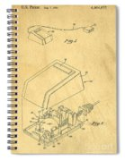 Early Computer Mouse Patent Yellowed Paper Spiral Notebook