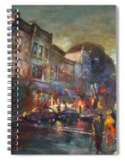 Early Evening In Main Street Nyack Spiral Notebook