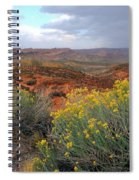 Early Evening Landscape At Arches National Park Spiral Notebook
