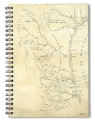 Early Hand-drawn Southern Texas Map C. 1795 Spiral Notebook
