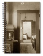 Early Kitchen With A Wood Kitchen Stove Circa 1906 Spiral Notebook