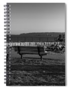 Early Morning At Bug Lighthouse Bw Spiral Notebook