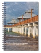 Early Morning At Fort Myers Beach Spiral Notebook