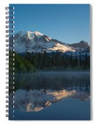 Early Morning At Mount Rainier Spiral Notebook