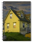Early Morning At Peggys Cove In Nova Scotia Canada Spiral Notebook