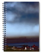 Early Morning At The Golden Gate Spiral Notebook