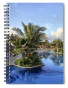 Early Morning At The Pool Spiral Notebook