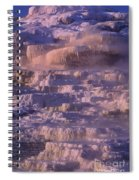 Early Morning Light On Minerva Springs Yellowstone National Park Spiral Notebook