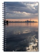 Early Morning Reflections - Lake Ontario And Downtown Toronto Skyline  Spiral Notebook