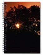 Early Morning Sun Burst Spiral Notebook
