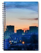 Early Morning Sunrise Over Charlotte City Skyline Downtown Spiral Notebook