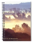 Early Morning Walk Photo With Quote- Brooklyn Ice Age Trail Spiral Notebook