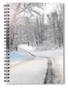 Early Morning Winter Road Spiral Notebook