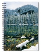Early Snow At Nymph Lake Spiral Notebook