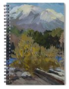 Early Snow Cascade Mountains Spiral Notebook