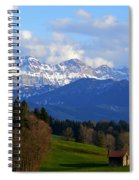Early Snow In The Swiss Mountains Spiral Notebook