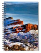 Snow On The Hogbacks Spiral Notebook