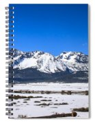 Early Spring In The Sawtooth Spiral Notebook