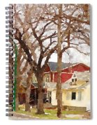 Early Spring Street Spiral Notebook