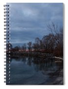 Early Still And Transparent - On The Shores Of Lake Ontario In Toronto Spiral Notebook