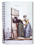 Early Victorian Peeping Women Spiral Notebook