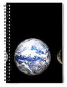 Earth And Phases Of The Moon Spiral Notebook