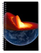 Earth Core Structure - Isolated Spiral Notebook