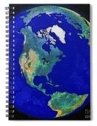 Earth From Space America Spiral Notebook