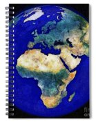 Earth From Space Europe And Africa Spiral Notebook