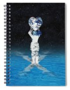 Earth Heart Holder Spiral Notebook