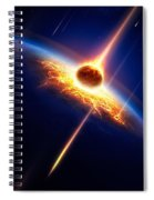 Earth In A  Meteor Shower Spiral Notebook