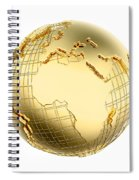 Earth In Gold Metal Isolated - Africa Spiral Notebook